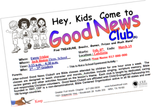 Good News Club Take-Home Flyer (Fort Worth CEF)